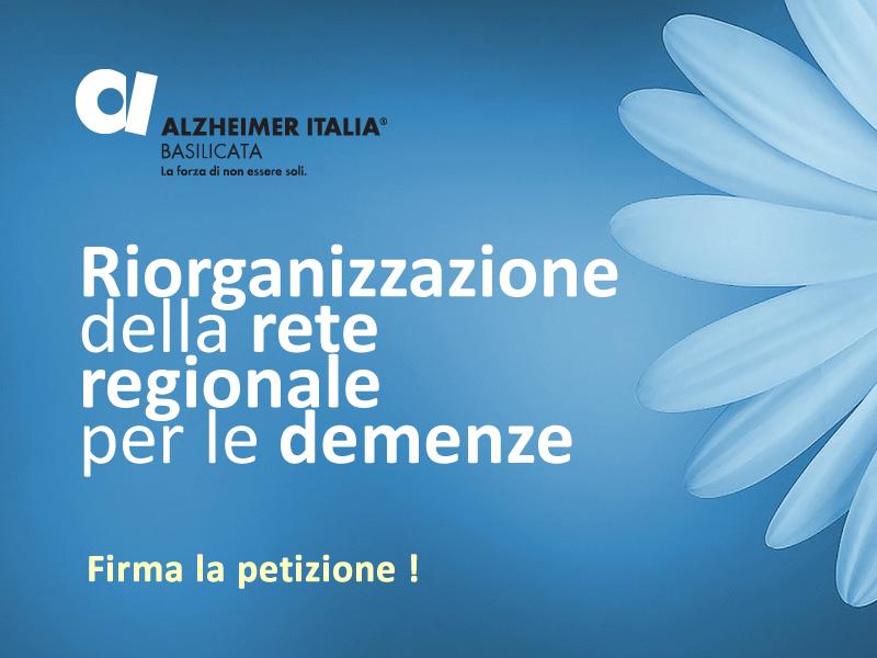 Firma la Petizione per riorganizzazione Rete regionale Demenze | Associazione Alzheimer Basilicata